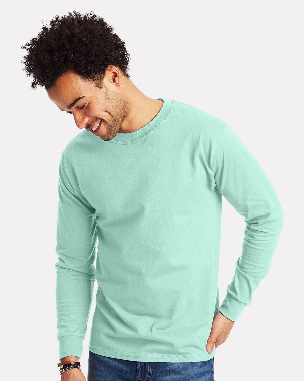 Hanes Beefy T-Blanc T-shirt en coton 5180 S-6XL à manches courtes T-Shirt